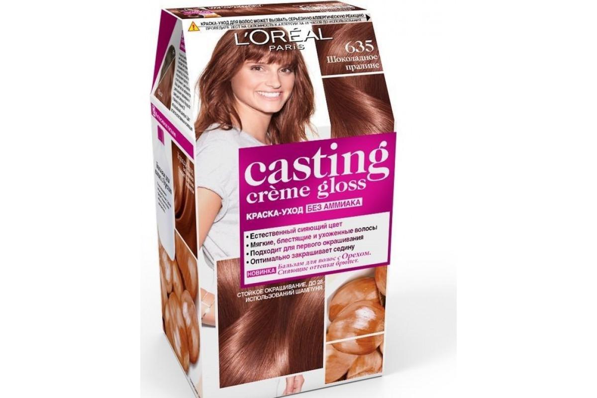 L'Oreal Casting Creme Gloss Крем-краска для волос тон 635 Шоколадный пралин