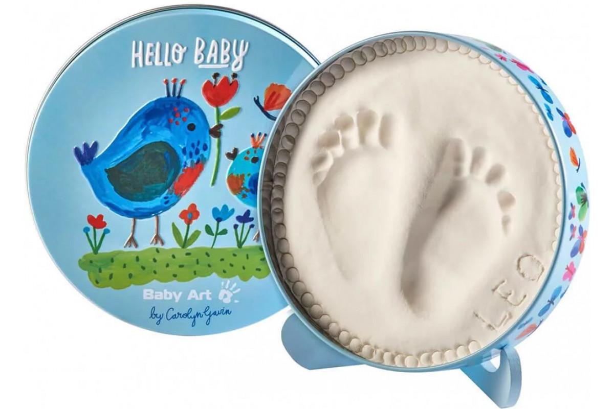 Baby Art Коробочка для отпечатка Мэджик бокс круглая; дизайн Птички