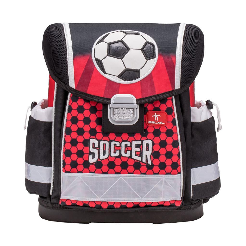 Набор: ранец Belmil Classy Soccer, мешок для обуви и пенал без наполнения