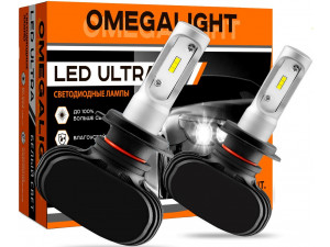 Лампа автомобильная LED светодиодная Omegalight Ultra HB3 2500lm (2шт)