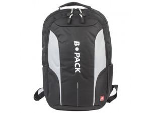 Рюкзак B-PACK S-04 (БИ-ПАК) универсальный, с отд. для ноутбука, влагостойк., черный 45х29х16см
