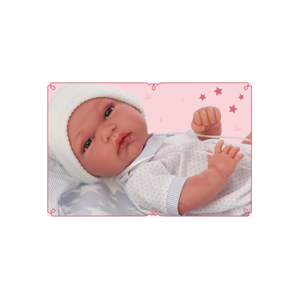 Antonio Juan Кукла-младенец Эмилио в голубом, 33 см