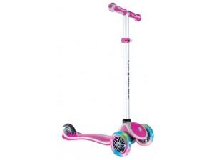 Самокат Globber Primo Plus Lights Color розовый