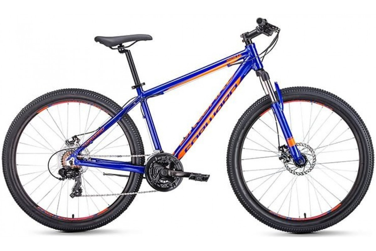 "Велосипед 27.5"" Forward Apache 2.0 Disc Синий/Оранжевый 18-19 г 17'"