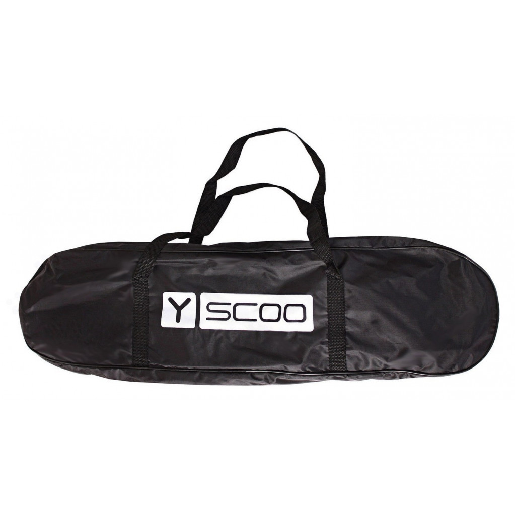 "Y-Scoo Big Fishskateboard Metallic 27"" - скейтборд с сумкой оранжевый-черный"