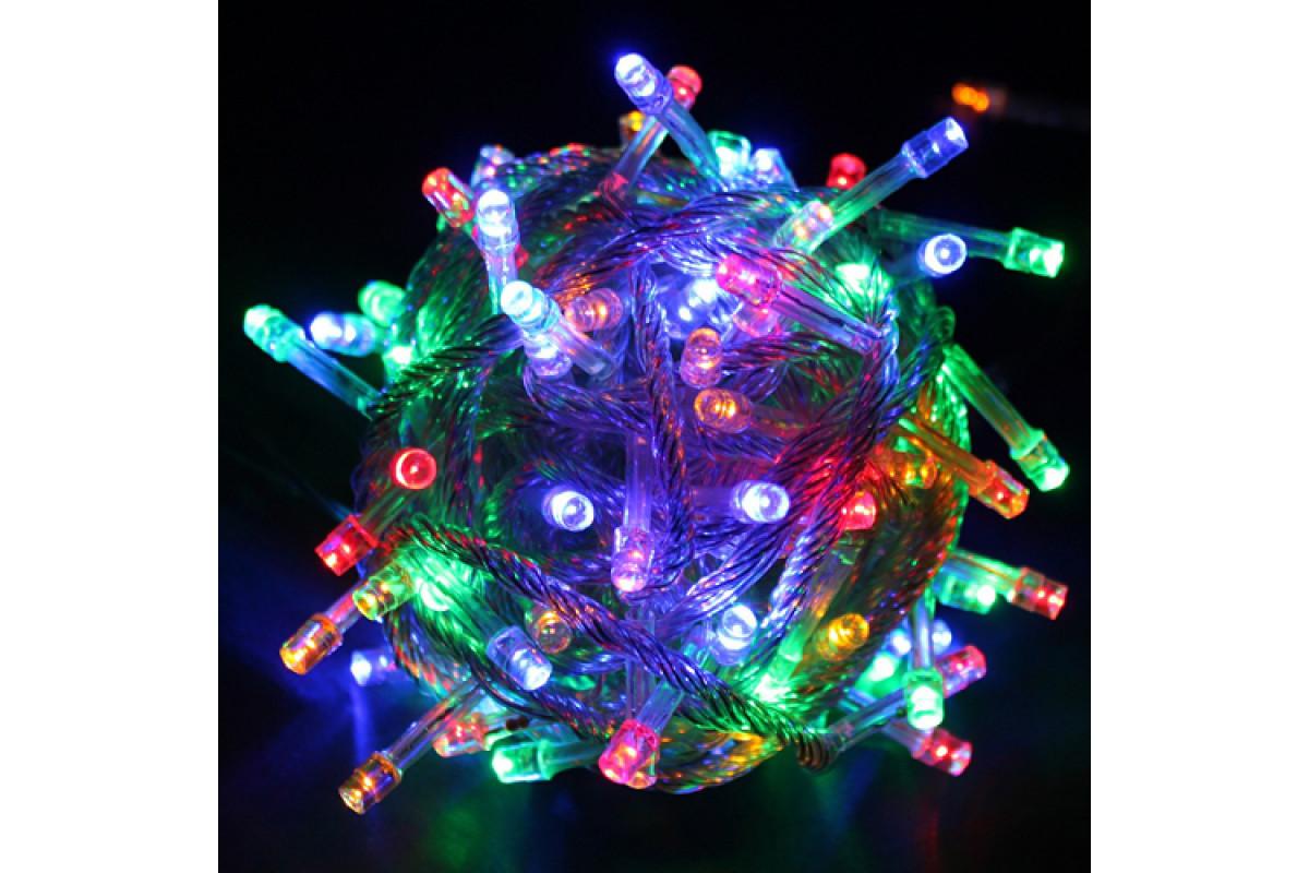 Гирлянда Sh Lights 100 разноцветных светодиодов с контроллером, уличная, LD100C-GM