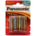 Батарейки Panasonic LR6XEG/6B2F AA щелочные Pro Power promo pack в блистере 6шт