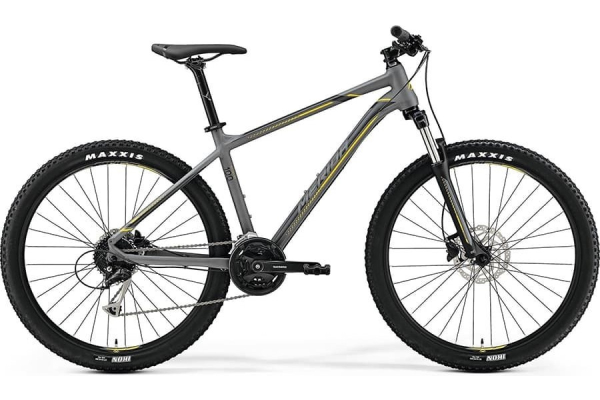 "Велосипед Merida Big Seven 100 MattGrey/Yellow (DarkGrey) 2019 XS(13.5"")(79775)"