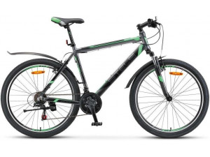 "Велосипед Stels Navigator 600 V V020 Антрацитовый/Зеленый (LU085064) 20"""