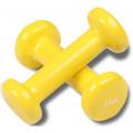 Гантели обливные с виниловым покрытием INDIGO, 92005 IR, Желтый, 0,5кг*2шт