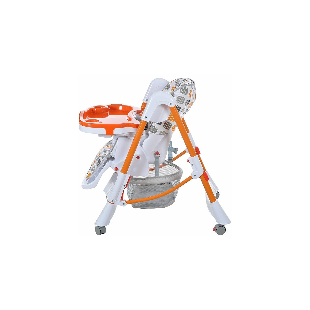 Pitus Nino - стульчик для кормления Orange-grey (серый) Diamonds (оранжевый)