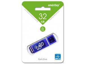 flash накопитель Smartbuy 32GB Glossy series Dark Blue, синий