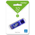flash накопитель Smartbuy 32GB Glossy series Dark Blue, синий