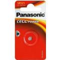 Батарейки Panasonic SR-521EL/1B дисковые серебряно-оксидные SILVER OXIDE в блистере 1шт