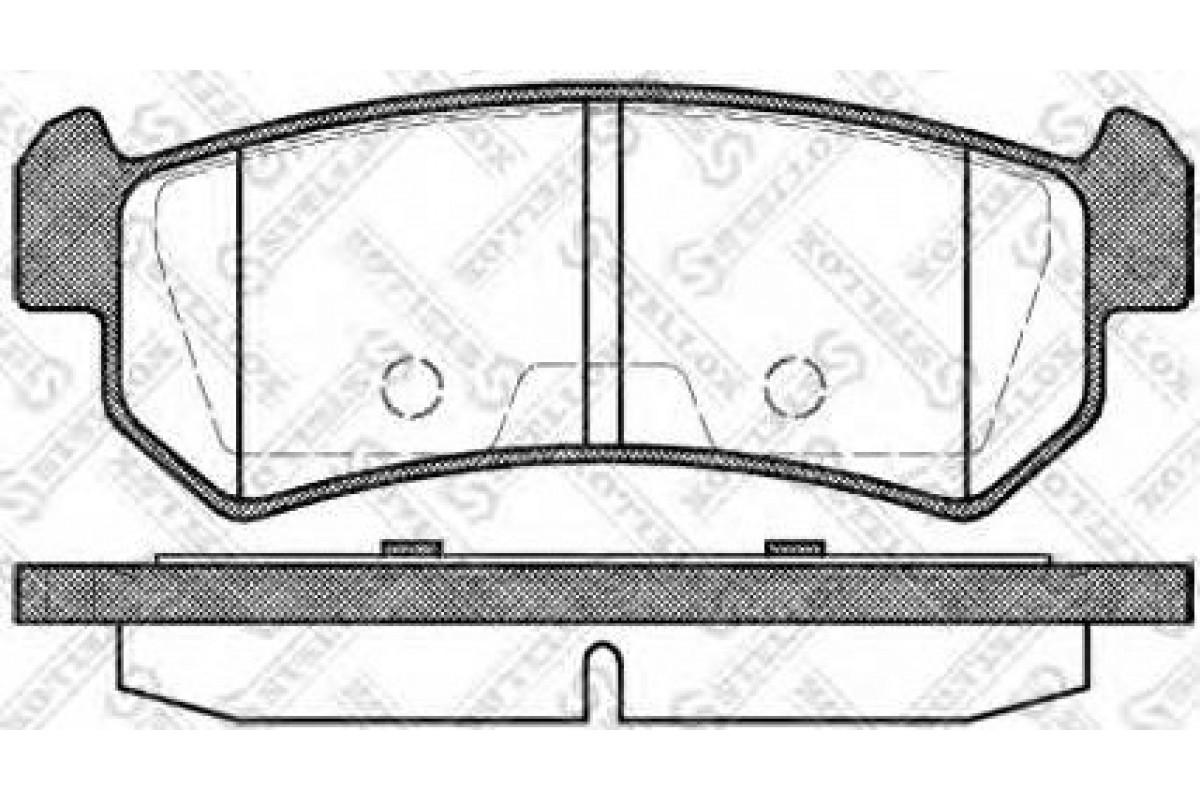 Колодки тормозные задние VK TECHNOLOGY VT 32087 для CHEVROLET LACETTI ->07