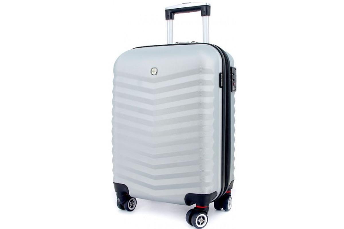 Чемодан WENGER FRIBOURG, серебристый, АБС-пластик, 33x23x47см, 35 л , SW32300452