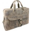 """Портфель на молнии WENGER """"STONEHIDE"""", коричневый, кожа, 55х11x40 см , W16-07"""