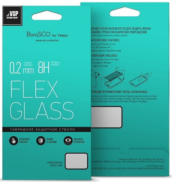 Защитное стекло для Xiaomi Mi Pad 4, Flex Glass VSP 0,26 мм гибридное, BoraSCO