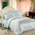 Постельное белье шёлковое Luxe Dream Бирюзовый евро (с нав. 50х70)