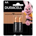 Батарейка щелочная Duracell LR6 (AA) 1.5В блистер 2шт
