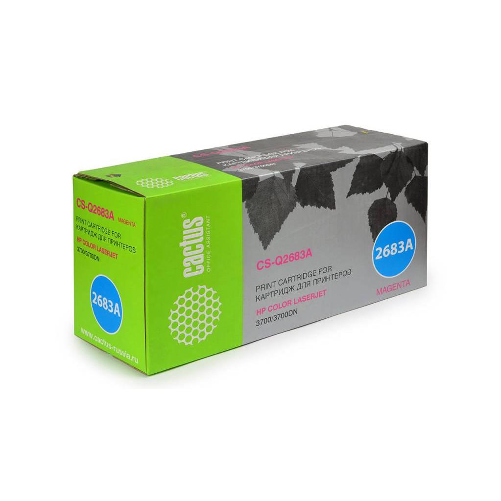 Картридж Cactus CS-Q2683A (HP 311A) пурпурный для принтеров HP Color LaserJet 3700, 3700D, 3700DN, 3700DTN, 3700N (6000 стр.)