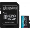 Карта памяти Kingston microSDXC Canvas Go Plus Class 10 UHS-I U3 (170/90MB/s) 256GB + ADP