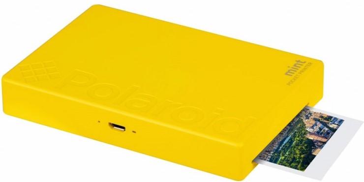Карманный принтер Polaroid Mint, желтый уценка 8141