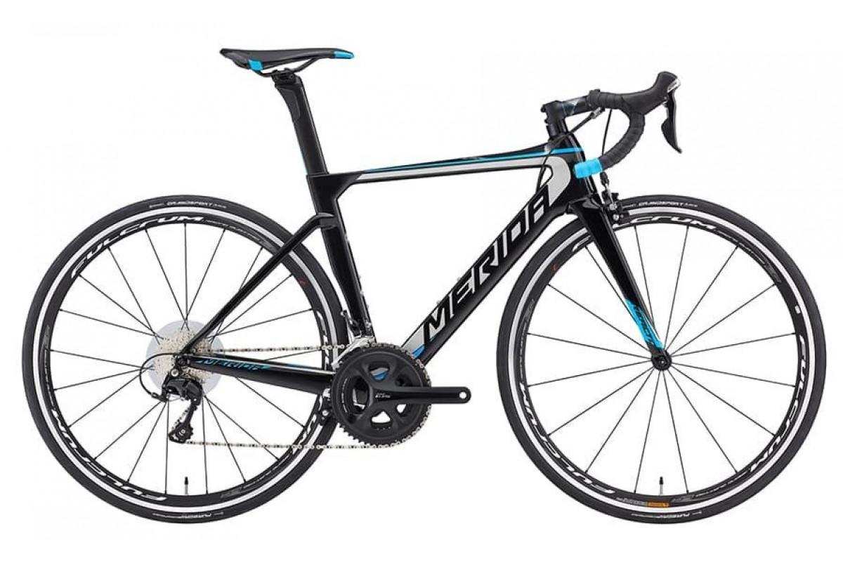Велосипед Merida REACTO 4000-TW MetallicBlack/Silver/Blue 2019 ML(54cm)(07966)