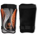 Щитки футбольные Indigo PU PVC M Черно-оранжевый