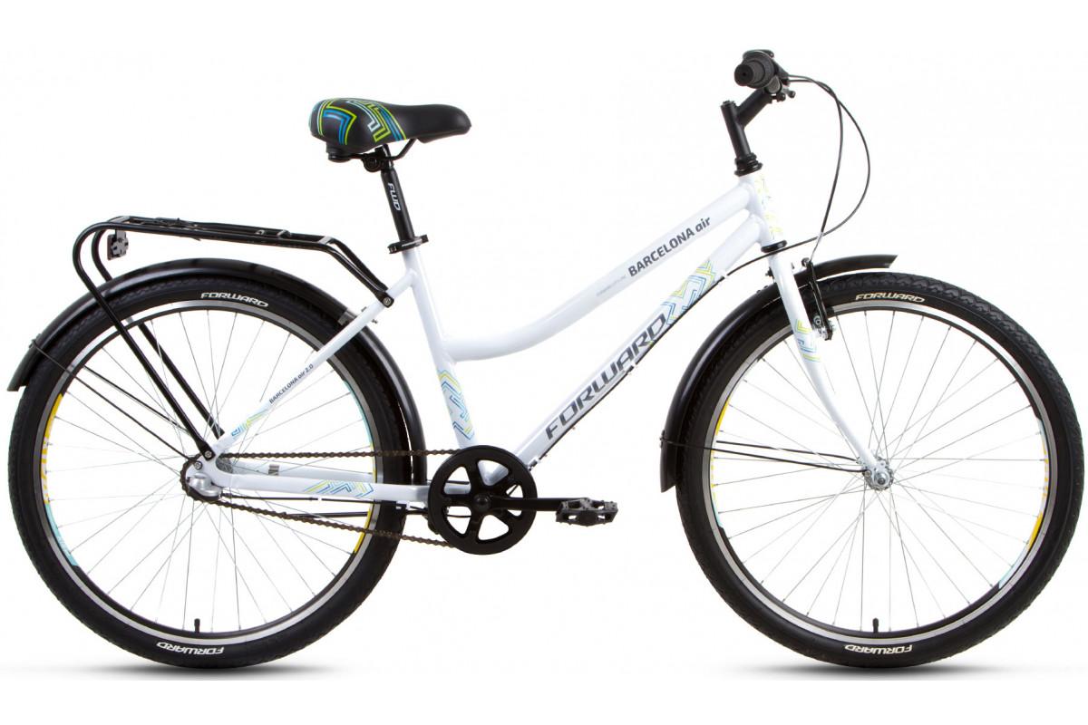 "Велосипед 26"" Forward Barcelona AIR 2.0 3 ск 17-18 г 17' Белый"