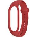Ремешок силиконовый для Mi Band 5, красный