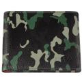 Портмоне Zippo, цвет зелёный камуфляж, натуральная кожа, 10,8×1,8×8,6 см