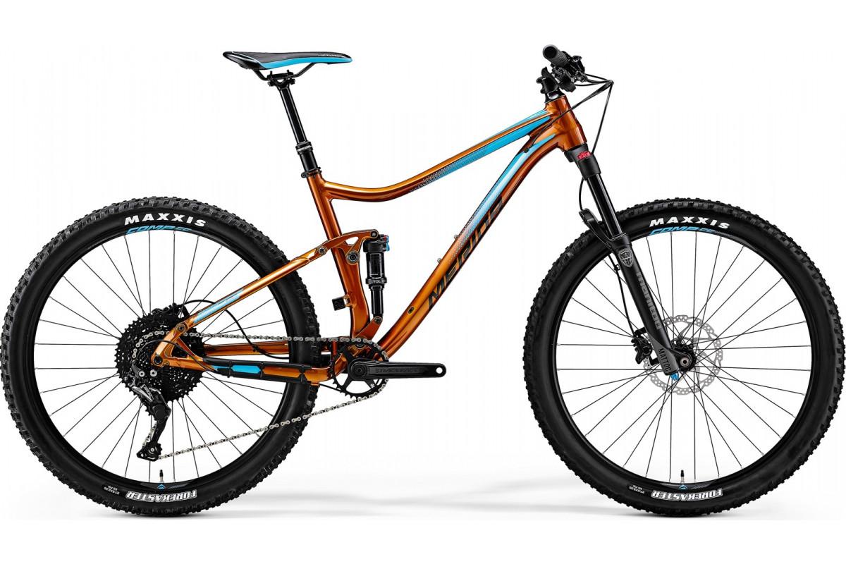 """Велосипед Merida One-Twenty 7.600 Copper (Blue/Black) 2018 M(18"""")(35380)"""