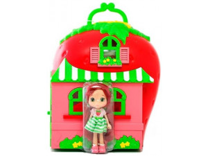 Шарлотта Земляничка набор Кукла 15 см с домом и аксессуарами The Bridge