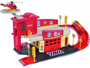 Dickie Пожарный Сэм Пожарный гараж с аксессуарами и вертолетом