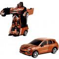 Робот 1toy на радиоуправление 2,4GHz, трансформирующийся в машину, 30 см, оранжевый