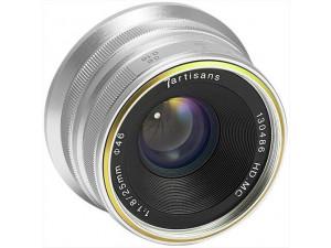 Объектив 7Artisans 25mm F1.8 Fujifilm X серебристый