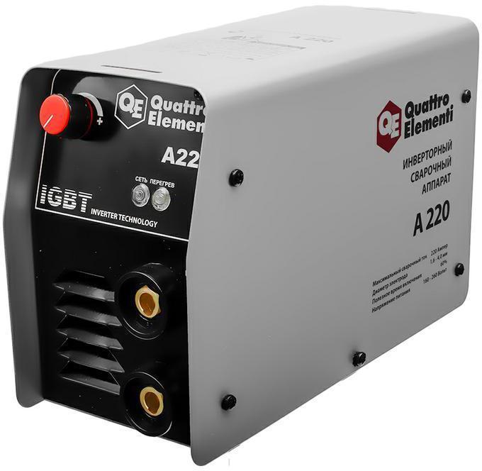 Инвертор Quattro Elementi A 220  220 А, ПВ 60%, до 4.0 мм, 5.4 кг, 160-240 В