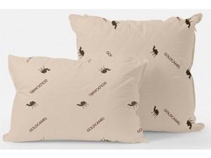 Подушка GoodNight двухкамерная верблюжья шерсть/искусcтвенный лебяжий пух/тик 50х70