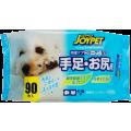 Влажные салфетки Japan Premium Pet для базового ухода лля собак и кошек для ухода за лапами и  областью под хвостом