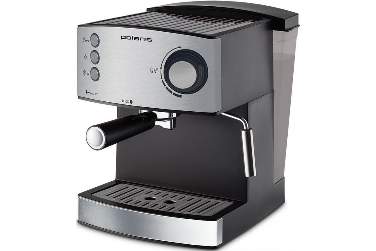 Кофеварка эспрессо Polaris PCM 1520AE Adore Crema 850Вт нержавеющая сталь