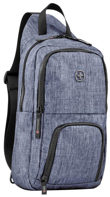 Рюкзак Wenger 605031 с одним плечевым ремнем, синий, полиэстер, 19 х 12 х 33 см, 8 л