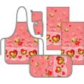 Комплект для кухни Традиция Ассорти Абстракция фартук, приватка, овальное полотенце и два полотенца 37х70