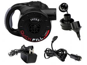 Intex Насос электрический с аккумулятором, с адаптером 12В 66642
