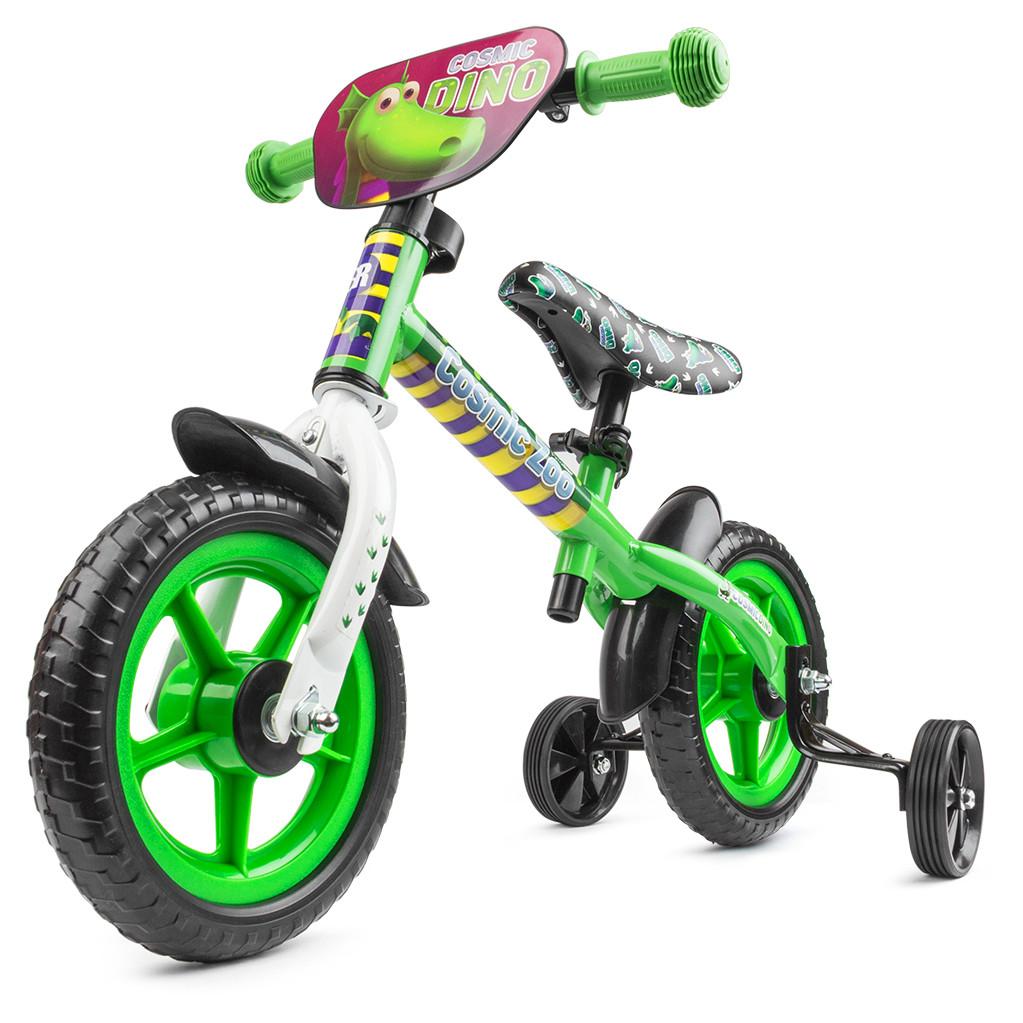 Small Rider Cosmic Zoo Ballance - беговел с доп.колесиками зеленый (динозаврик)