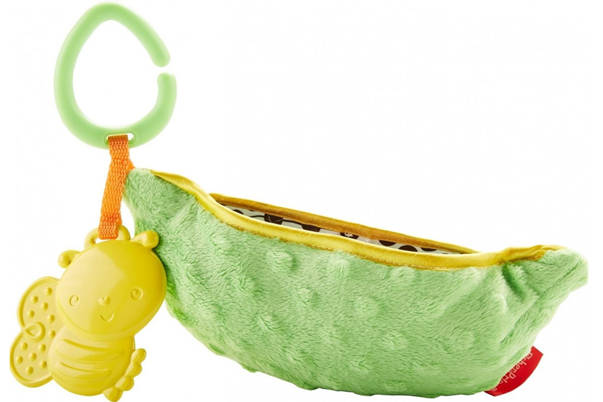 Fisher-Price Плюшевая игрушка-погремушка Горошек Mattel DRD79