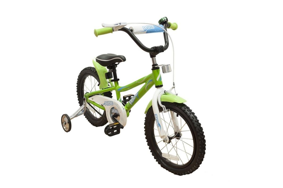 """Ride 16 - детский велосипед 16"""" светло-зеленый"""