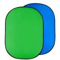 Фон складной Raylab RF-12 хромакей муслиновый Green/Blue 100*150см (зеленый/синий)