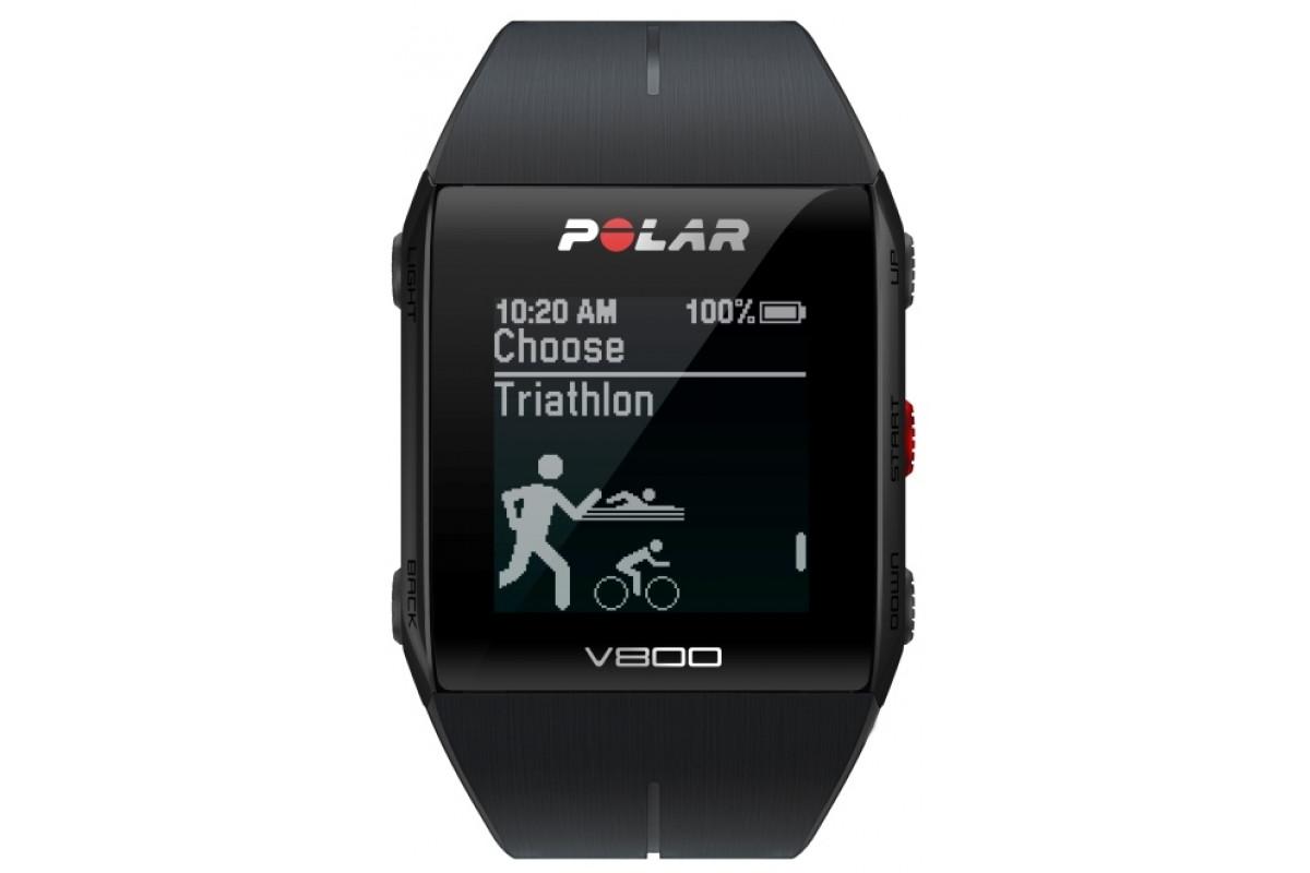 Часы Polar V800 HR черный (H10)