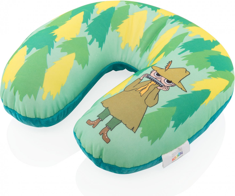 Подушка-подголовник Муми-тролль зеленая М